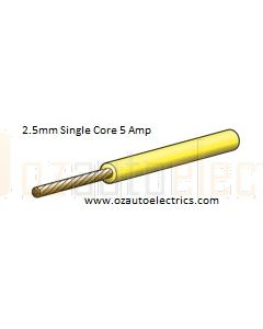 Yellow Single Core Cable 3mm - Cut to Length