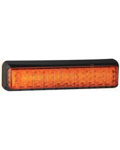 LED Autolamps 200BAMB 200 Series Single Indicator Lamp - Black Bracket (Boxed)