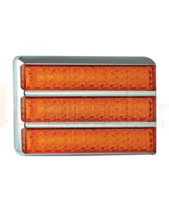 LED Autolamps Triple Rectangular Lamp- Indicator- Chrome