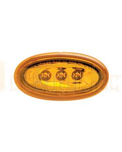 Hella 2034 LED Side Marker - Amber, 12V DC