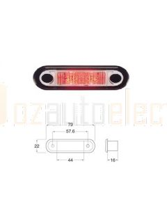 Hella LED Rear Position / Outline Lamp - Red Illuminated (Pack of 4) (2308BULK)