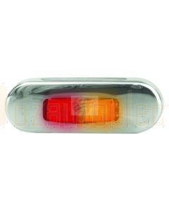 Hella 2803S LED Side Marker Lamp Amber/Red 12/24V Bezel Flush Mount