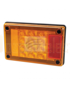 Hella Jumbo Series LED Rear Direction Indicator Lamp 12/24 Volt Horizontal or Veritcal