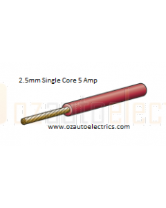 Red Single Core Cable 3mm