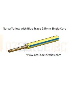 Yellow with Blue Trace Single Core Cable 3mm (1m)