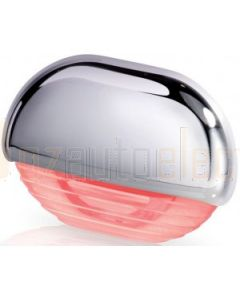 Hella Marine Red LED Easy Fit Gen2 Waterproof Step Light - Chrome Plated Plastic Cap - 12-24VDC