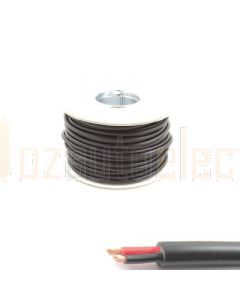 2mm Twin Core Twin Sheath Cable 100m Roll