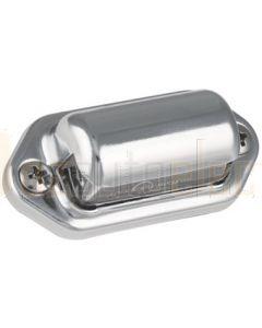 LED Autolamps 6434CWM 30 Series Licence Plate Lamp - Chrome (Bulk Poly Bag)