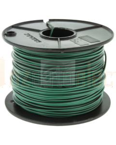 3mm Single Core Cable Green with Black Trace 100m Roll