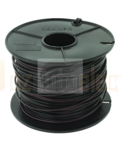 3mm Single Core Cable Black with Red Trace 100m Roll