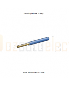 3mm Single Core Cable Blue 500m Roll