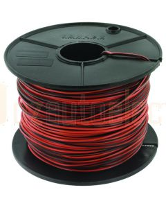 3mm Single Core Cable Orange with Black Trace 100m Roll