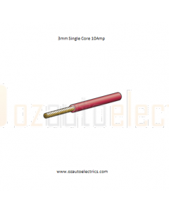 3mm Single Core Cable Red 500m Roll