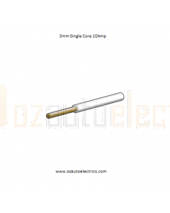 3mm Single Core Cable White 500m Roll