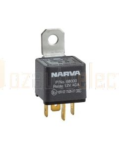 Narva 68000BL 12V 40Amp 4 Pin Normal Open Relay