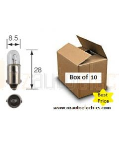 Narva 47233 Instrument/Licence Plate globes 4W BA9s (Box of 10)