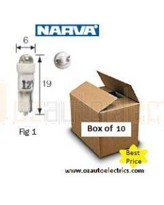 Narva 47854 L.E.D Wedge Globes 12v T-5mm KW2 x 4.6d -  Blue (Box of 10)
