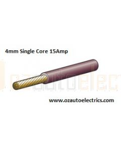 Narva 5814-100BN Brown Single Core Cable 4mm (100m Roll)