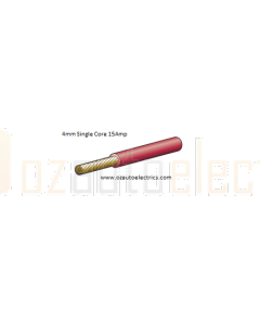 Narva 5814-30RD Red Single Core Cable 4mm 30m Roll