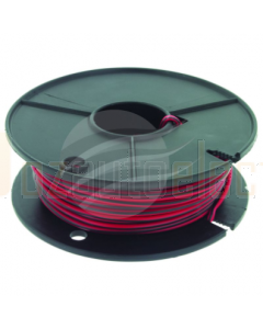 4mm Single Core Cable Red with Black Trace 30m