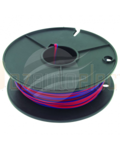 4mm Single Core Cable Red with Blue Trace 30m