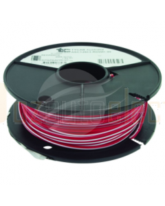 4mm Single Core Cable Red with White Trace 30m