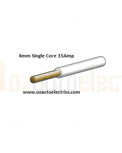 4mm White Automotive Cable 30m Roll