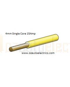 Narva 5814-4YW Yellow Single Core Cable 4mm (4m Roll)