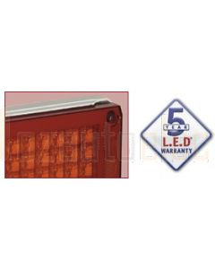 Narva 94832 9-33 Volt L.E.D Rear Stop/Tail Lamp (Red) with 0.5m Cable, White Housing and Security Caps