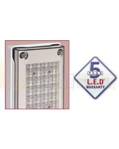 Narva 94837V 9-33 Volt L.E.D Reverse Lamp (White)for Vertical Mounting with 0.5m Cable, White Housing and Security Caps