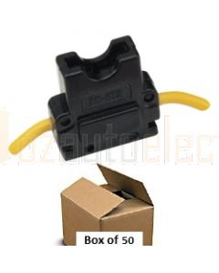 Narva 54404/50 In-Line Standard ATS Blade Fuse Holder (Box of 50)