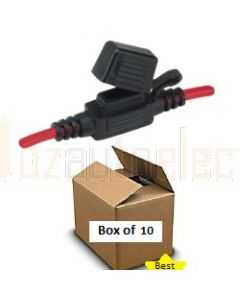 Narva 54412/10 In-Line Mini Blade Fuse Holder with Weatherproof Cap (Box of 10)