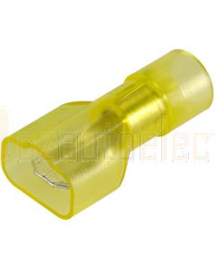 Narva 56013BL Male blade Terminal, Transparent Polycarbonate, Fully Insulated 6.3mm (Blister Pack)