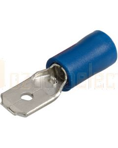 Narva 56022BL Male Blade Terminal, Flared Vinyl Insulated 4mm (Blister Pack)