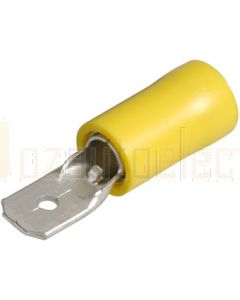 Narva 56024BL Male Blade Terminal, Flared Vinyl Insulated 5-6mm (Blister Pack)