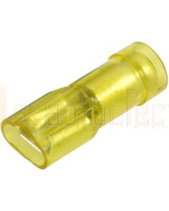 Narva 56145 Yellow Blade Crimp Terminals, Transparent Polycarbonate, Fully Insulated 5-6mm (Box of 100)