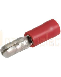 Narva 56046BL Red Male Bullet Crimp Terminal, Flared Vinyl Insulated 2.5-3mm (Blister Pack)
