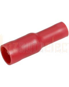 Narva 56050BL Red Female Bullet Crimp Terminal, Flared Vinyl Insulated 2.5-3mm (Blister Pack)