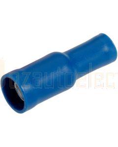 Narva 56052BL Blue Female Bullet Crimp Terminal, Flared Vinyl Insulated 4mm (Blister Pack)