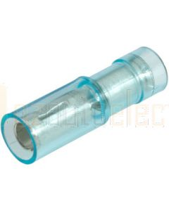 Narva 56053BL Blue Female Bullet Crimp Terminal, Transparent Polycarbonate 4mm (Blister Pack)