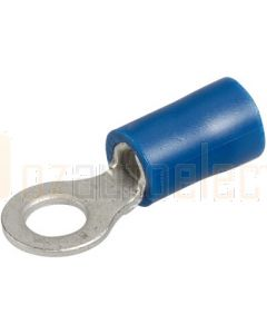 Narva 56076BL Ring Terminal Flared Vinyl, Insulated (Eye Terminal) 4mm (Blister Pack)