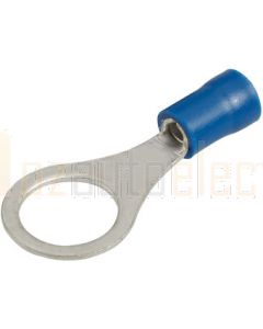 Narva 56183 Blue Ring Terminal Flared Vinyl, Insulated (Eye Terminal)  9.5mm dia (Box of 100)