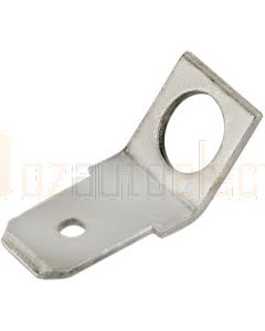 Quikcrimp DT145 Angled quick connect tab non-insulated (stud dia. 4.3mm)