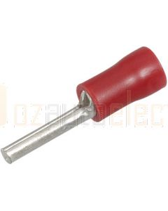 Narva 56212 Red Pin Crimp Terminal Flared Vinyl Insulated 2mm dia (Pack of 25)