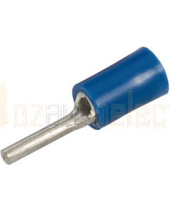 Narva 56214 Blue Pin Crimp Terminal Flared Vinyl Insulated 2mm dia (Pack of 25)