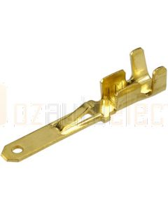 Narva 56218 Blade Male Terminal Non-insulated Brass with Locking Tab 2.8 x 0.8 dia (Pack of 100)