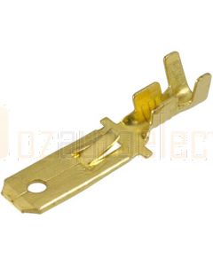 Narva 56220 Blade Male Terminal Non-insulated Brass with Locking Tab 6.3 x 0.8 dia (Pack of 100)