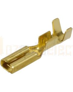 Narva 56222 Blade Female Terminal Non-insulated Brass with Locking Tab 2.8 x 0.8mm dia (Pack of 100)