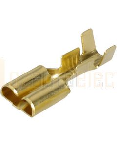 Narva 56224 Blade Female Terminal Non-insulated Brass with Locking Tab 6.3 x 0.8mm dia (Pack of 100)
