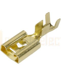 Narva 56225 Blade Female Terminal Non-insulated Brass with Locking Tab 9.5 x 1.2mm dia (Pack of 100)